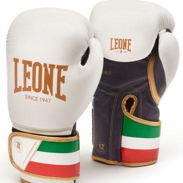 """Guantes de Boxeo Leone """"Italy"""" blancos"""