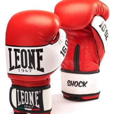 """Guantes de Boxeo Leone """"Shock"""" rojos"""