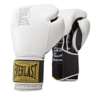 Guantes de Boxeo Everlast Classic Hook Loop blancos