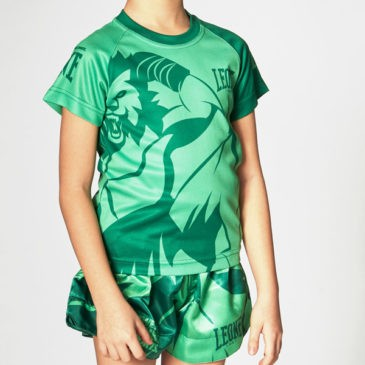 "Camiseta Leone ""Mascot"" Infantil verde"