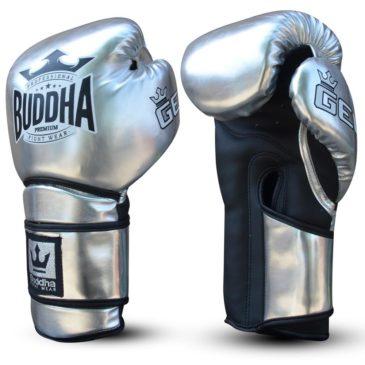 "Guantes de Boxeo Buddha ""Pro Gel"" plata"